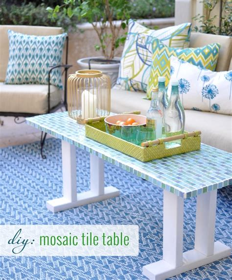 diy tile outdoor table centsational