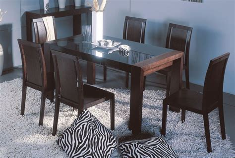 graceful wooden with glass top 5 pc dinette set raleigh
