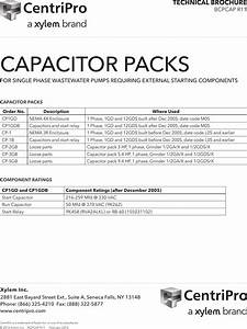 544507 1 Goulds Centripro Capacitor Packs Specifications