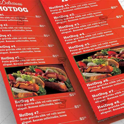 cuisine premium fast food premium tri fold brochure template