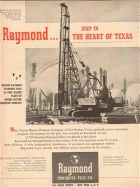 Raymond Concrete Pile Company 1953 Vintage Ad Neches