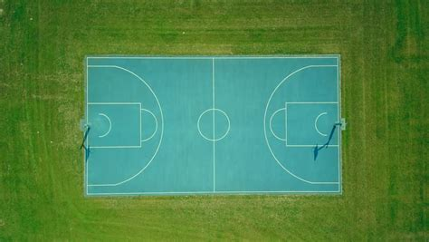 basketball court aerial vertical top stock footage video  royalty