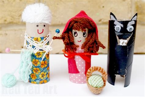 toilet paper roll  red riding hood craft red ted