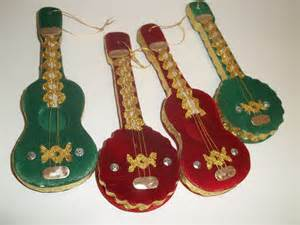japanfelt musical instrument ornament lot