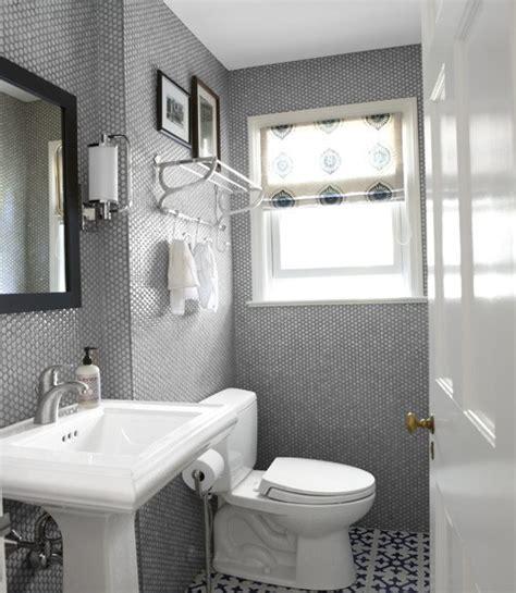 grey and white bathroom floor tile