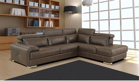 Nicoletti Sofa by Nicoletti Gary Sectional Sofa In Ash Grey Italian Leather