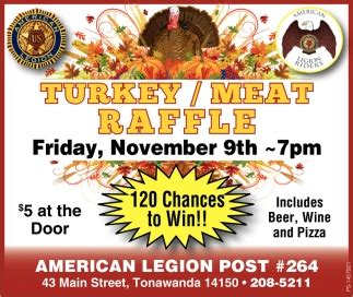 turkeymeat raffle american legion post  tonawanda ny