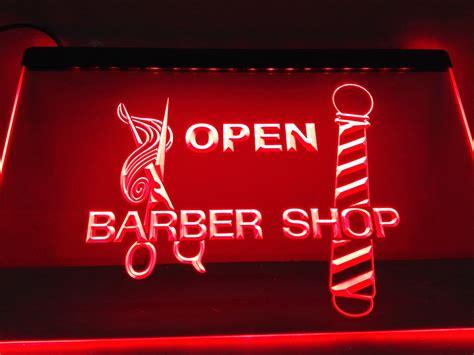 neon signs for home decor lb006 open barber pole scissor led neon light sign home