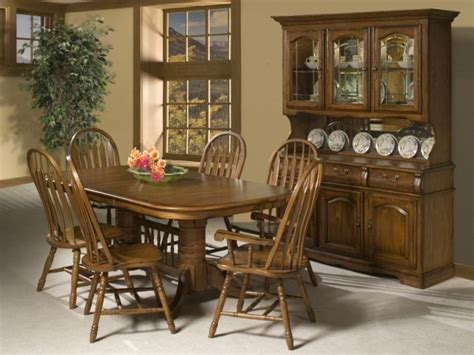 country style dining room with cappuccino finish china