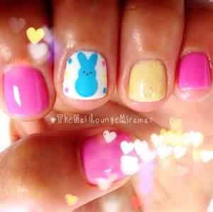 Peeps easter nail art nails
