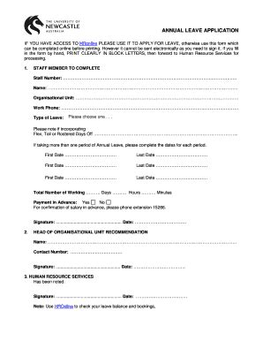 apply annual leave form fill online printable fillable