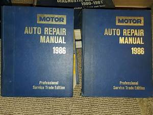 Motor Auto Repair Manual Reference Guide Book 1986 Service