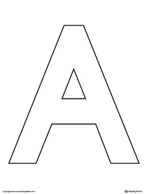 Letter A Template by Uppercase Letter A Color By Letter Worksheet