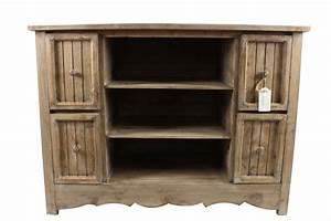 Meuble Bas Bois : meuble bas rangement bois 4 tiroirs 102x45x75cm ~ Teatrodelosmanantiales.com Idées de Décoration