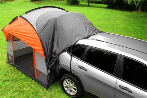 car canopy tent cing with a suv tent