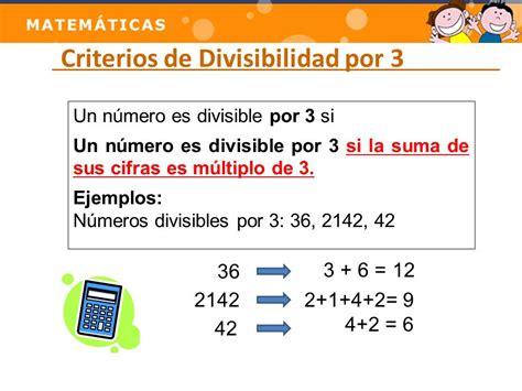 si鑒es de para saber si un número es divisible entre dos hay que c thinglink