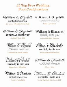 check out these free google wedding font combinations if With font size of wedding invitation