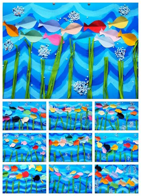 basteln sommer grundschule bunte fische basteln mit kindern sommer kunst und
