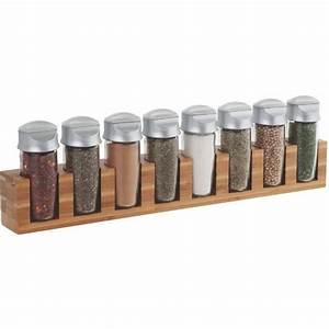 Support à épices : support 8 pices mural ou poser en bambou la casserolerie ~ Teatrodelosmanantiales.com Idées de Décoration