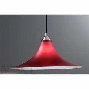Franklite fl  red glass single pendant light