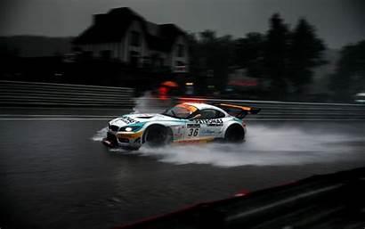 Bmw Z4 Gt3 Racing Cars Wallpapers Rain