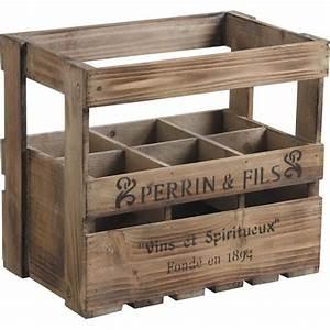 Caisse Bois Rangement : caisse en bois 6 bouteilles caisse en bois bouteille sur ~ Teatrodelosmanantiales.com Idées de Décoration