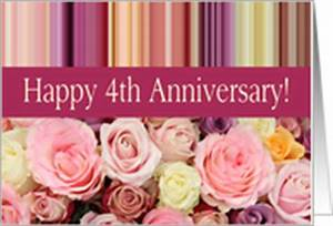 4th Wedding Anniversary Cards from Greeting Card Universe