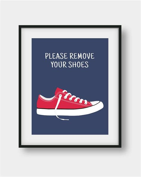 remove  shoes printable sign shoes