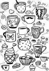 Coloring Coffee Cup Rocks Doodle Adult Coloringnori Cups Colouring Mugs Doodles sketch template