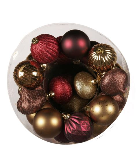 bronze decadence christmas  piece ornament set tree