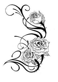 9 Best Rose Tattoo Stencils images in 2017   Tattoo stencils, Tattoos, Rose tattoo stencil