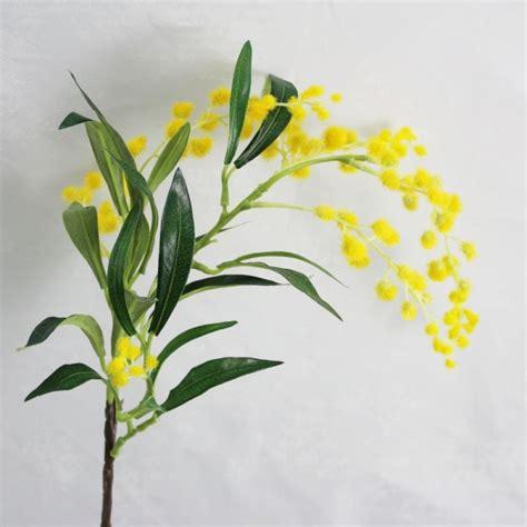 artificial australian native bush flower wattle with bright yellow flow