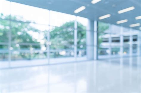 Blurred Abstract Background Interior View Looking Out