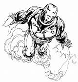 Iron Coloring Simple Children Pages Super Heroes sketch template