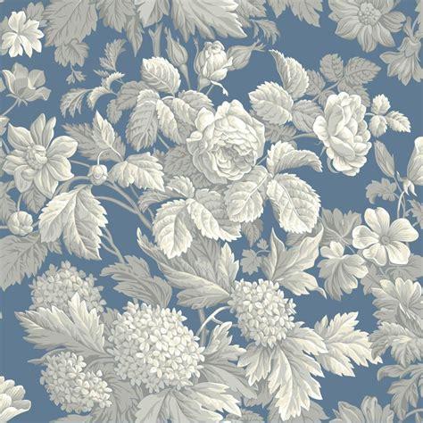 york wallcovering blue book antique floral wallpaper kc