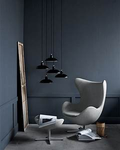 Fritz Hansen Egg Chair : fauteuil pivotant egg chair tissu gabriele offert 1 repose pieds gris fonc fritz hansen ~ Orissabook.com Haus und Dekorationen