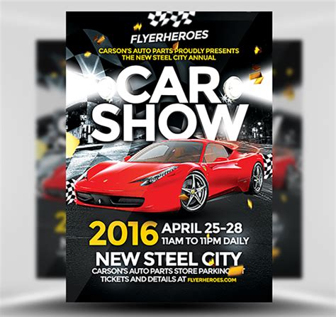 Show Template by Car Show Flyer Template Flyerheroes