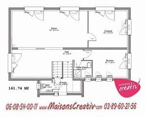 maison a etage entree a demi niveau de maisons creativ celine With plan maison demi niveau 0 maison en demi niveaux detail du plan de maison en demi