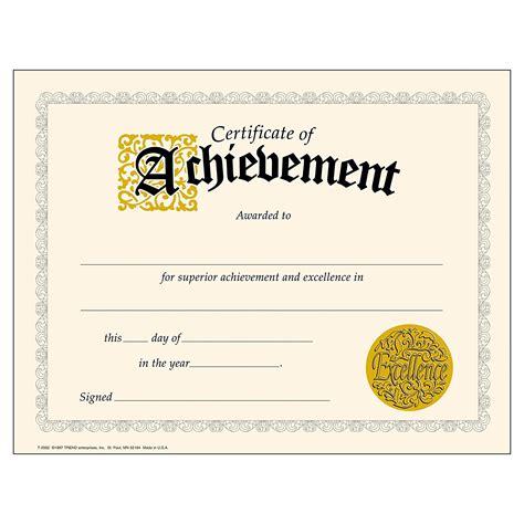 achievement certificates templates