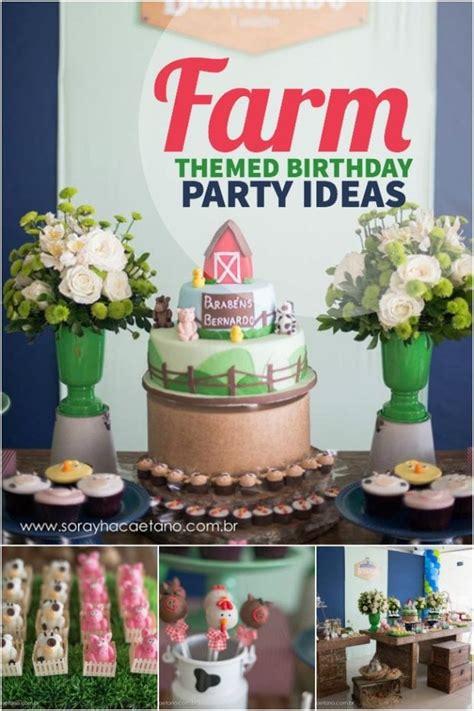 boys    farm themed birthday party