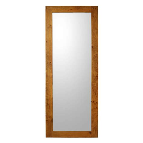 viking wall oak framed mirror length