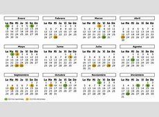 Calendario Calendario laboral de 2018 un año con 10