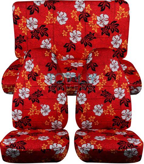 hawaiian print car seat covers full set semi custom