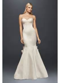 address wedding invitations truly zac posen seamed satin wedding dress david 39 s bridal