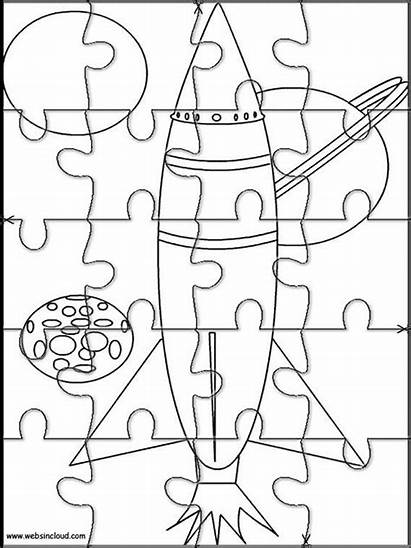Puzzles Printable Jigsaw Puzzle Space Cut Coloring