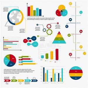 Business Data Market Elements Dot Bar Pie Charts Diagrams