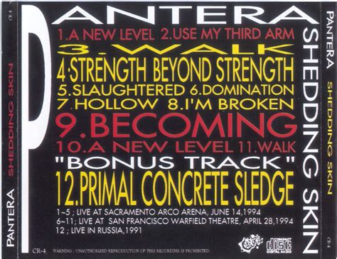 shedding skin pantera mp3 pantera shedding skin