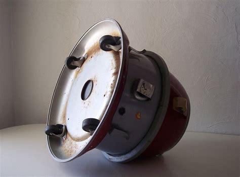 eureka canister vacuum red  gray vintage vacuum cleaner