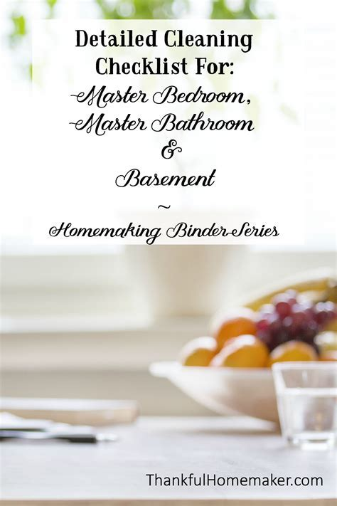 Homemaking Binder Series: Detailed Cleaning Checklists for