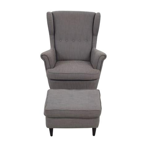 chair and ottoman ikea 58 off ikea ikea grey wing chair and ottoman chairs